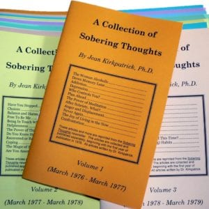 Image: Collection of Sobering Thoughts booklets