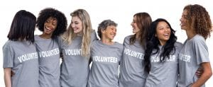 Picture: A group of female volunteers.