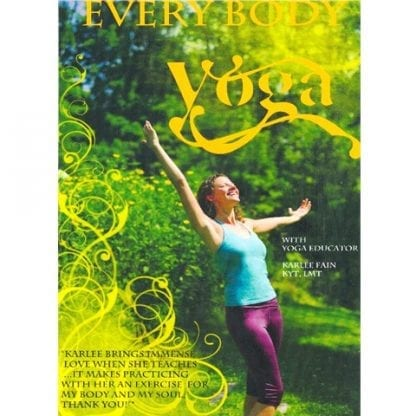A photo of the front cover of the Everybody Yoga DVD