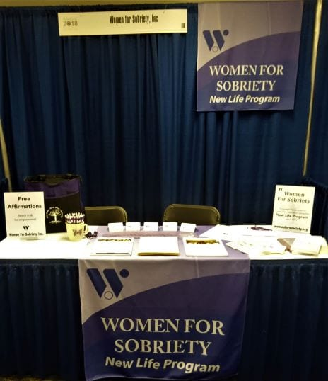 WFS booth at NAADAC conference