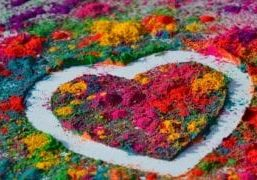 heart in pigment - reduced size